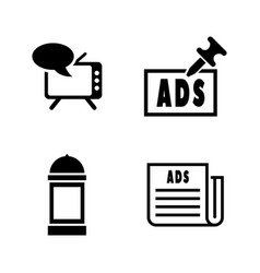 advertising simple related icons vector image