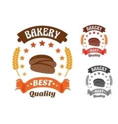 Bakery shop symbol with sliced rye bread vector image
