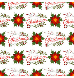 christmas floral wreath winter pattern floret vector image