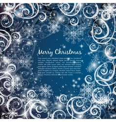 elegant christmas blue background vector image