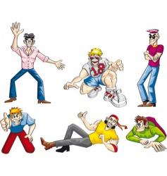 party boys set vector image vector image
