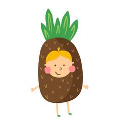 Pineapple boy vector