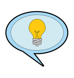 speech bubble with bulb vector image
