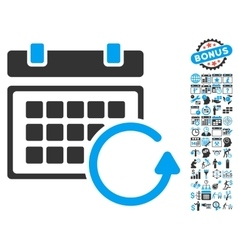 Update calendar flat icon with bonus vector