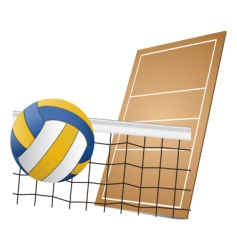 volleyball design elements vector image vector image