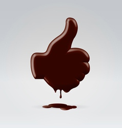 Chocolate dripping like vector image