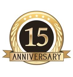 Fifteen Year Anniversary Badge vector image vector image