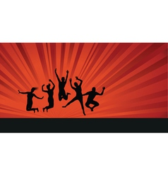 jumping background people vector image vector image