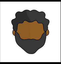 people avatar face men icon vector image vector image