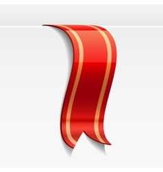 Red bookmark decoration ribbon vector image vector image