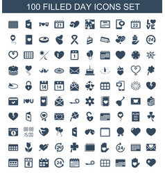 100 day icons vector