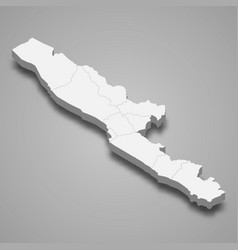 3d isometric map bengkulu is a province vector