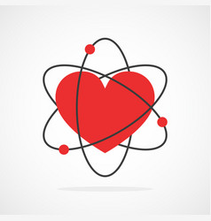 abstract atom icon vector image