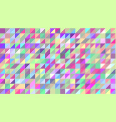 Abstract background of colored triangles the vector