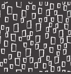 Abstract squares seamless pattern on black vector