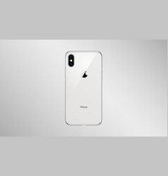 Back side high quality new phone x with camera vector
