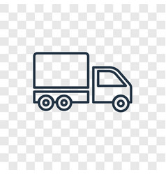 big cargo truck concept linear icon isolated on vector image