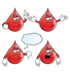 Bored blood drop set vector image vector image