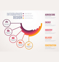 business infographics or step chart template vector image