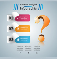 Business infographics question mark vector
