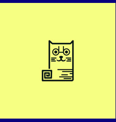cat box with a line vector image