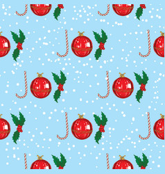 christmas joy lettering seamless pattern vector image