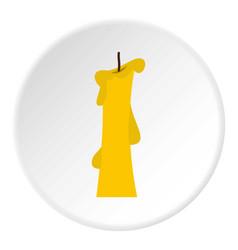 Church candle icon circle vector