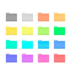 Colorful folder icons vector