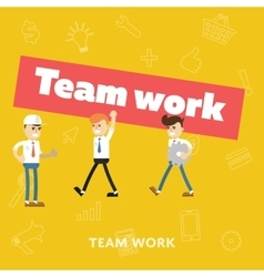 Concept of teamwork flat abstract isolated vector