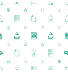 Contract icons pattern seamless white background vector