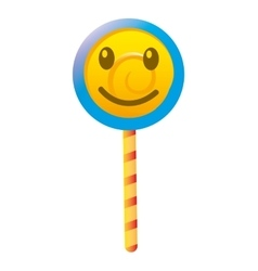 Delicious candy lollipop sweet vector