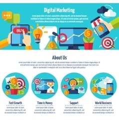 Digital Marketing Web Site vector