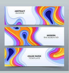fashion abstract advertising banners with vector image