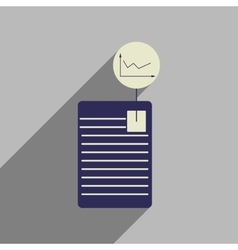 Flat web icon with long shadow economic document vector image