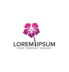 flower logo cosmetics and beauty logo design vector image