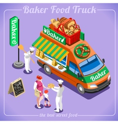 Food Truck 12 Isometric Vehicles vector image