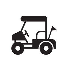 golf field cart icon in outline design vector image