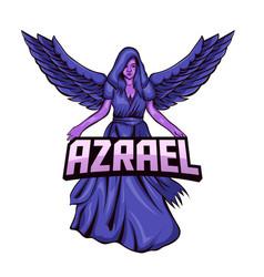 Graphic azrael angel vector
