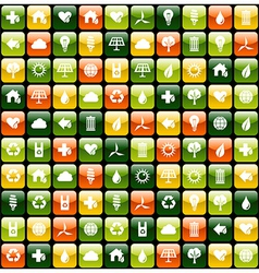 Green environment app icon pattern background vector image