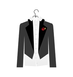 Groom suit icon image vector
