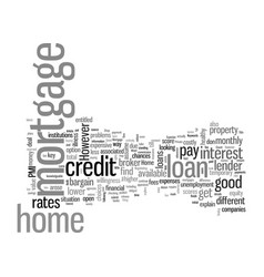 How to find good home mortgage vector