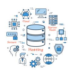 Internet hosting and secure file storage vector