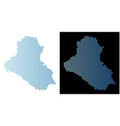 Iraq map hex-tile scheme vector
