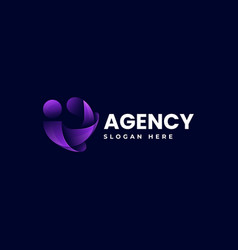 Logo agency business gradient colorful style vector
