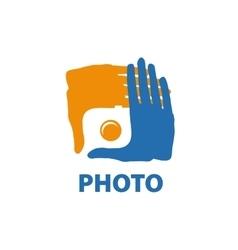 Logo camera vector