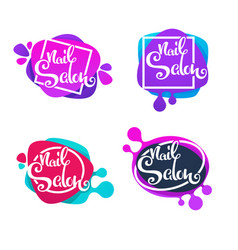 Logo template for your nail studio and manicure vector