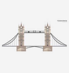London tower bridge flat vector