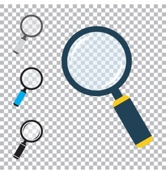 Magnifier Flat Icons Set vector image