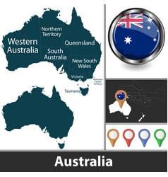 map australia vector image