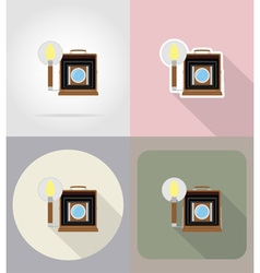 multimedia flat icons 10 vector image